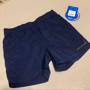 Youth Medium Columbia Backcast Shorts, Navy